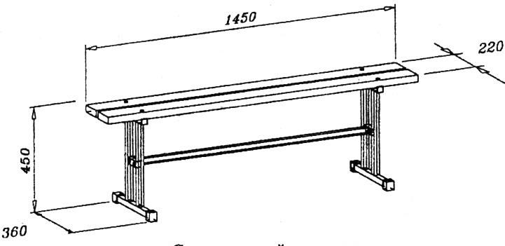 Подвесная скамья чертежи из профиля